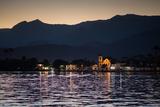 Nossa Senhora Das Dores Church in Paraty at Sunset Fotografisk tryk af Alex Saberi