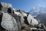 Mani Stones Inscribed with an Ancient Tibetan Mantra in the Khumbu Valley Photographic Print by Alex Treadway