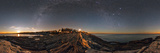 The Milky Way Photographed in a 360-Degree Panorama During Moonset over the Atlantic Photographic Print by Babak Tafreshi