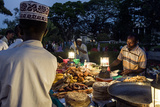Food Stall Vendors Prepare Fresh Food for Shoppers at a Night Market by the Indian Ocean Photographic Print by Jason Edwards