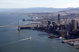 An Aerial View of San Francisco and the Bay Bridge Photographic Print by Jill Schneider