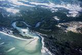 Jason Edwards - A Coastal Tidal River Flows from the Ocean into Salt Marsh and Mangrove Forests Fotografická reprodukce