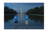 Young Boys Stand Near the Reflecting Pool on the National Mall in Washington, Dc Photographic Print by Joel Sartore