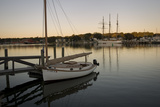 A Sailboat and Schooner Moored in Mystic Photographic Print by Richard Olsenius