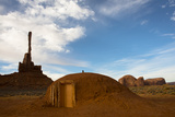 A Hogan Near the Totem Pole Pinnacle in Monument Valley Navajo Tribal Park Photographic Print by Diane Cook Len Jenshel