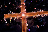 Bearers of the Cross in a Good Friday Procession on Via Dolorosa Photographic Print by Thomas Nebbia