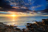 Sunrise over the Atlantic Ocean Off the Rocky Coast of Maine Fotografisk tryk af Robbie George