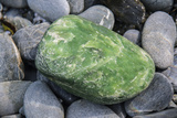 A Piece of Pounamu, also known as Jade, on a Bed of River Stones Photographic Print by Michael Melford