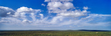 White, Fluffy Clouds Float over a Lone Thomson's Gazelle on the Endless Short Grass Savannah Plain Photographic Print by Jason Edwards