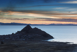 Sunset Looking Towards Copacabana on Lake Titicaca Photographic Print by Alex Saberi