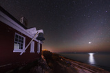 The Night Sky over the Atlantic at Pemaquid Point. Zodiacal Light and Venus Appear on the Right Photographic Print by Babak Tafreshi