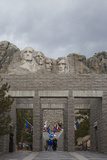 Tourists Visit Mount Rushmore in South Dakota's Black Hills Photographic Print by Steve Winter