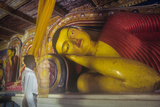 Reclining Buddha Sculpture at Anuradhapura, Sri Lanka Photographic Print by David Hiser