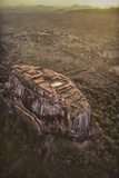 Aerial View of Sigiriya, a 5th Century Rock Fortress, Sri Lanka Photographic Print by David Hiser