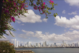 The Skyline of Panama City, Capital of Panama Glistens in the Sun Above the Pacific Ocean Photographic Print by Steve Raymer
