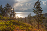 A Storm at Sunrise over Lake Tahoe, California Photographic Print by Greg Winston
