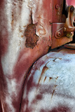 Close Up of Rust and Peeling Paint on an Old Truck Fotografisk tryk af Amy White and Al Petteway