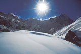 Annapurna Is Seen from a High Camp for Climbers Photographic Print by David Edwards