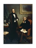 Portrait of Luigi Basiletti and Paolo Richiedei, 1850-1874 Giclee Print by Angelo Inganni