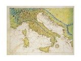 Italy, from Atlas of the World in Thirty-Three Maps, 1553 Giclee Print by Battista Agnese