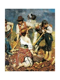 At Spade, Detail, 1890 Giclee Print by Arnaldo Zacconi
