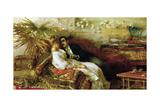 Love of Simoni, 1886 Giclee Print by Angelo Inganni