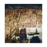 Saint Theodore and City of Pavia, 1522 Giclee Print by Bernardino Luini