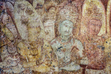 Fresco of Women in the Tivanka Image House Photographic Print by David Hiser