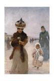 Walk, 1885 Giclee Print by Angelo Inganni
