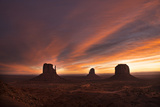 The Mittens and Merrick Butte in Monument Valley Navajo Tribal Park Photographic Print by Diane Cook Len Jenshel
