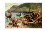 On the Beach, 1880 Giclee Print by Cesare Dell'acqua