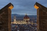 The Palazzo Vecchio Tower Frames Florence's Duomo, the Basilica Di Santa Maria Del Fiore Photographic Print by Dave Yoder
