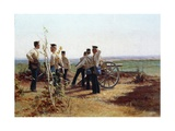 Artillery Emplacement, 1880-1885 Giclee Print by Cesare Dell'acqua