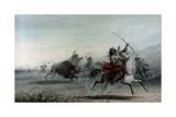 Bison Hunt, 1858 Giclee Print by Alfred Emile Léopold Stevens