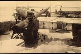 Zeebrugge Westflandern, Deutsche Kanone, Hafen Photographic Print