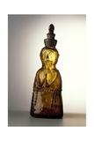 Amber-Colored Bottle in Metal Mold-Blown Glass with Relief Decoration Giclee Print by Bernhard Strigel