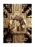 Detail from Silver-Gilt Cross, 1509 Giclee Print by Battista Agnese
