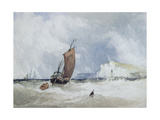 The Pilot Boat Off Fecamp, Normandy Giclee Print by Charles Burton Barber