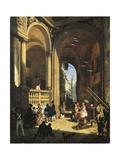 View of Piazza Dei Mercanti, 1844 Giclee Print by Angelo Inganni