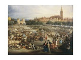 The Fair of Seville, the Cathedral and Giralda in Background Giclee Print by Andrea Appiani