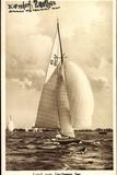 Zeuthen, Segelboot Im Wind Auf Dem Zeuthener See Photographic Print