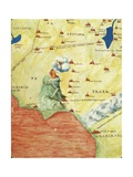 Nile River Delta, Red Sea and Mount Sinai, from Atlas of the World in Thirty-Three Maps, 1553 Giclee Print by Battista Agnese