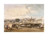 Field of African Hunters in Novara in 1859 Giclée-tryk af Carlo Dolci