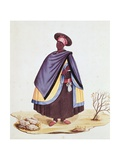 Brazilian Woman Wrapped Up in Two Mantel Blankets with Pendants as Symbol of Her Status, 1775 Giclee Print by Carlos Juliao