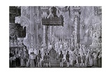 Coronation of Ferdinand I, 1835 in Milan Giclee Print by Alexandre Calame