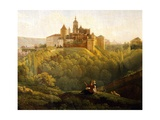 View of Prague Castle from the West, Czech Republic Giclee Print by Anton Raphael Mengs