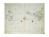 Pacific Ocean, from Atlas of the World in Thirty-Three Maps, 1553 Giclee Print by Battista Agnese