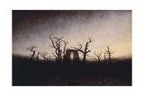 Abbey in the Oakwood Giclee Print by Caspar David Friedrich