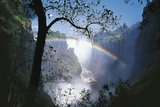 Zimbabwe Mosi-Oa-Tunya, 'Victoria Falls' on Zambezi River, Rainbow Fotografie-Druck