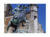 Spain, Trujillo, Plaza Mayor, Equestrian Statue of Francisco Pizarro Giclee Print by Charles Cottet